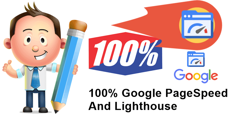 100% Google PageSpeed And Lighthouse
