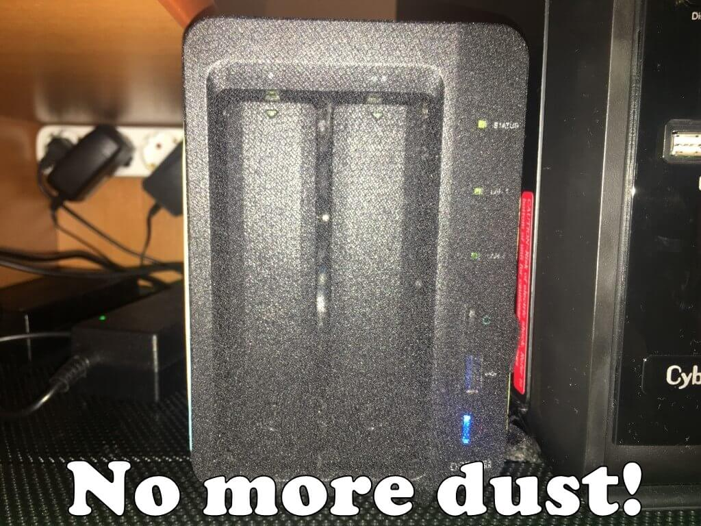 No more dust on synology nas 5