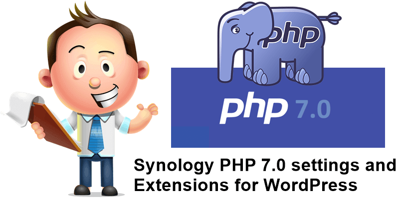 Synology PHP 7.0 settings and Extensions for WordPress