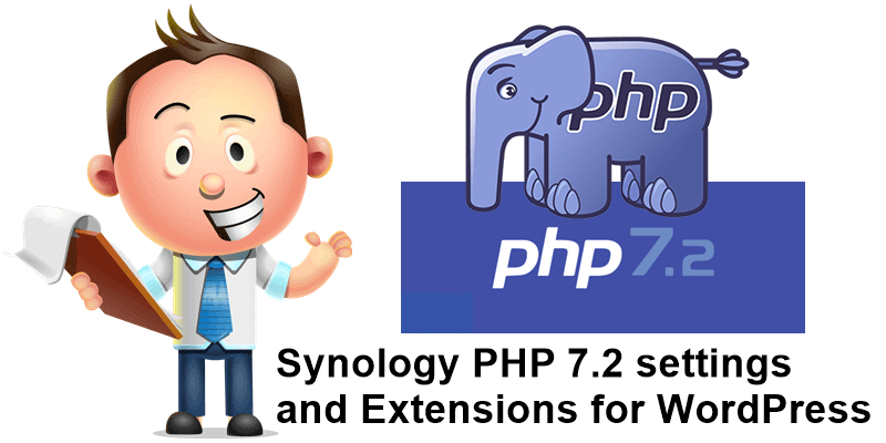 Synology PHP 7.2 settings and Extensions for WordPress