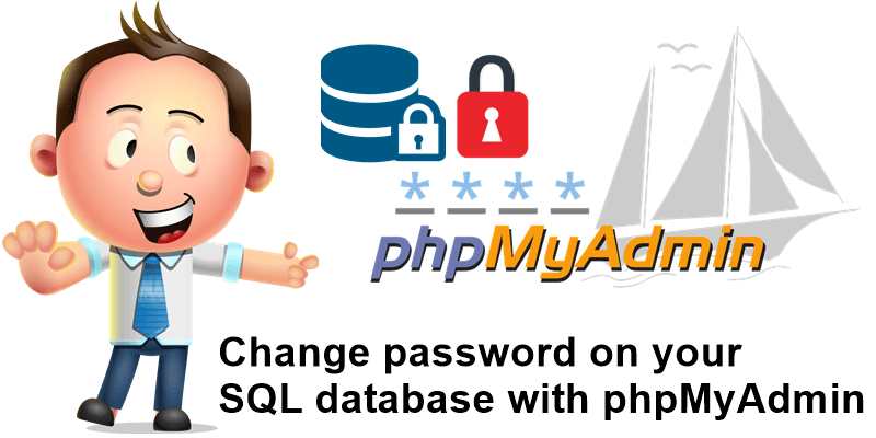 Change password on your SQL database with phpMyAdmin