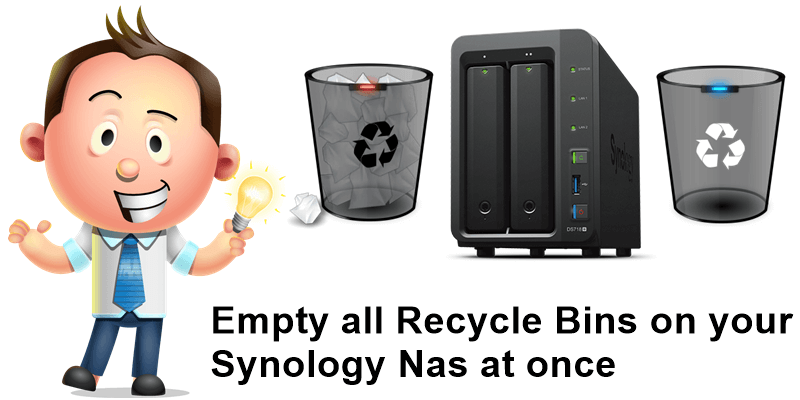 Empty all recycle bins on your synology nas at once