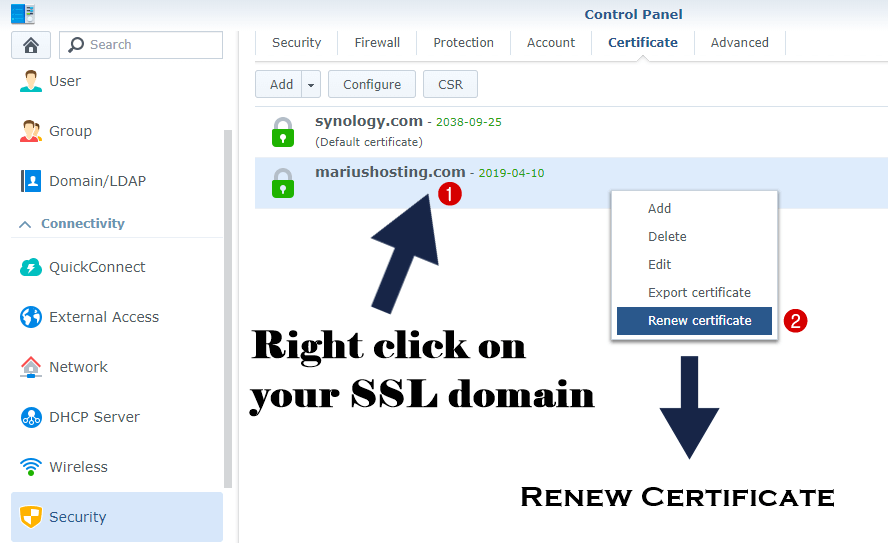 How To Renew Let's Encrypt Certificate On Synology NAS – Marius Hosting