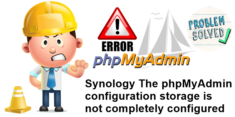 Synology The phpMyAdmin configuration storage is not completely configured