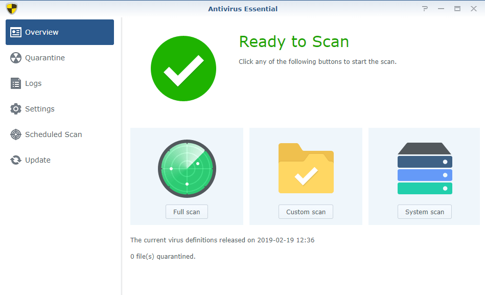 antivirus essential synology nas