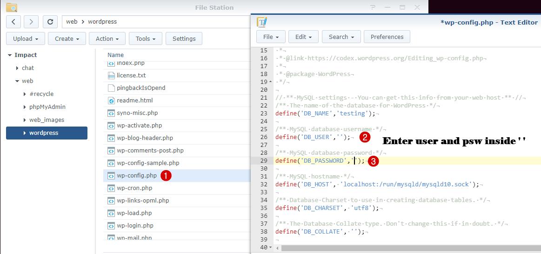 change wp config password