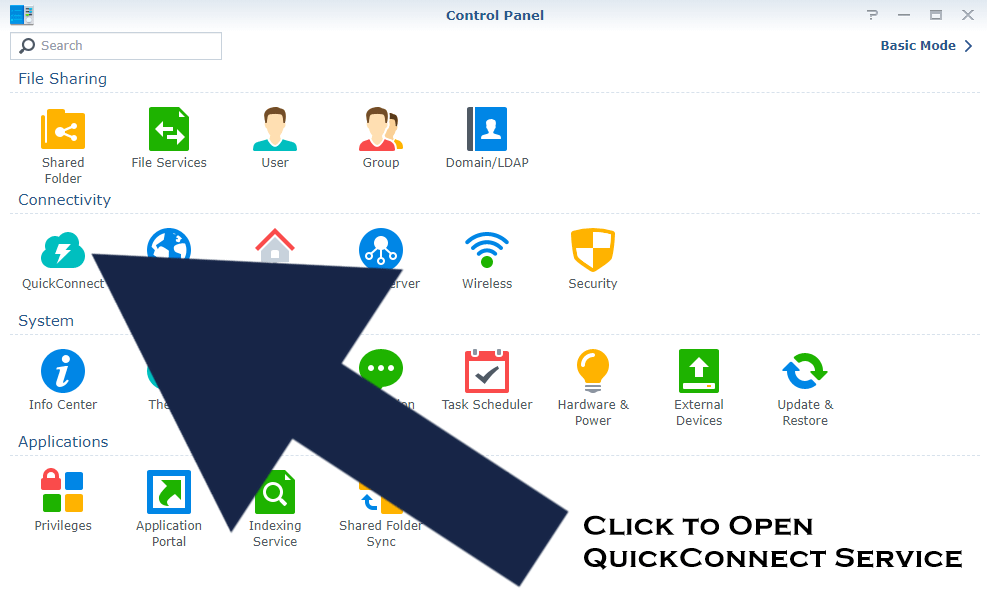 enable quickconnect synology