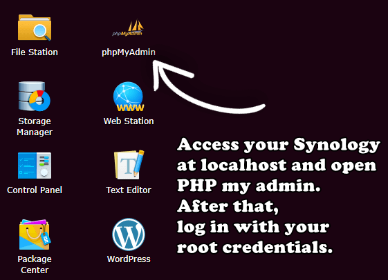 login on your phpmyadmin