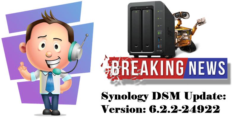 Synology DSM Update Version 6.2.2-24922