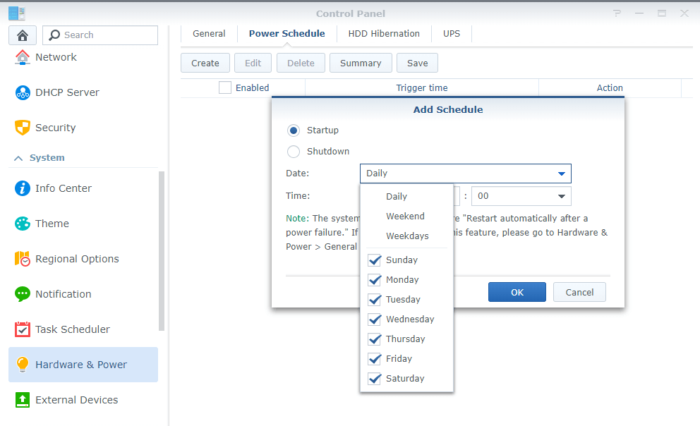 Create-power-schedule-on-synology-nas