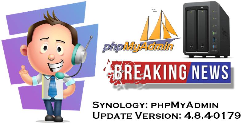 Synology-update-phpmyadmin-june-2019
