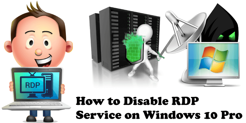 How to Disable RDP Service on Windows 10 Pro