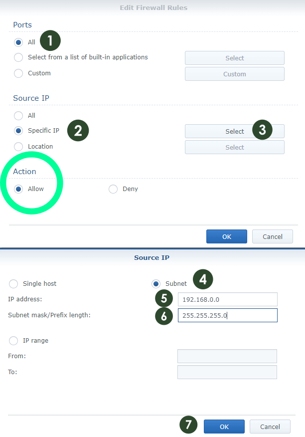 Synology Firewall settings 3