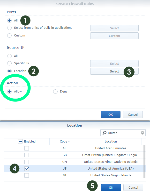 How to Set up Synology Firewall GeoIP Blocking – Marius Hosting