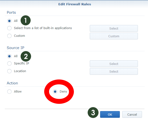 Synology Firewall settings 6