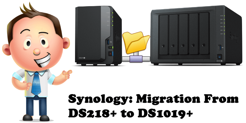 Synology Migration From DS218+ to DS1019+