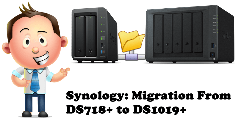 Synology Migration From DS718+ to DS1019+