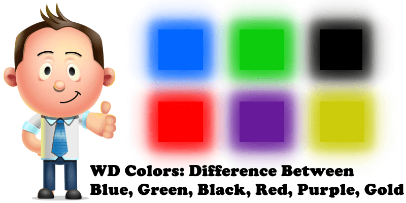 WD Colors Difference Between Blue, Green, Black, Red, Purple, Gold