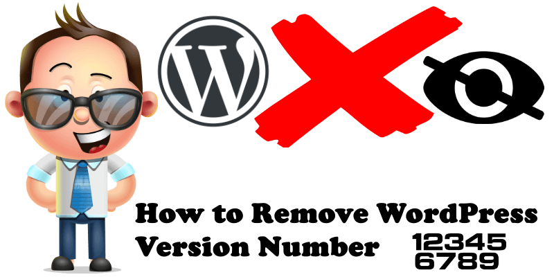 how to remove WordPress version number