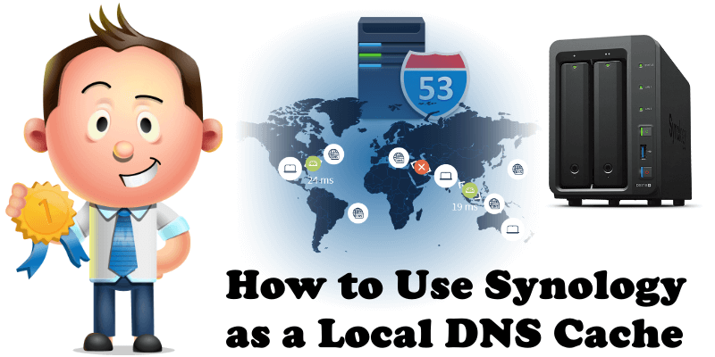 how to use synology as a local dns cache