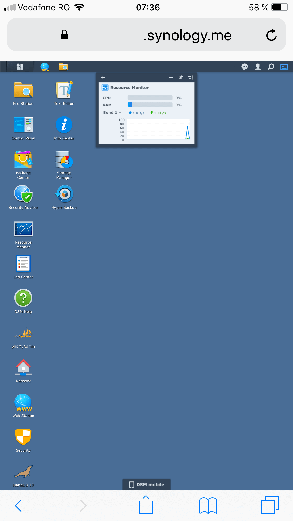 synology big icons mobile