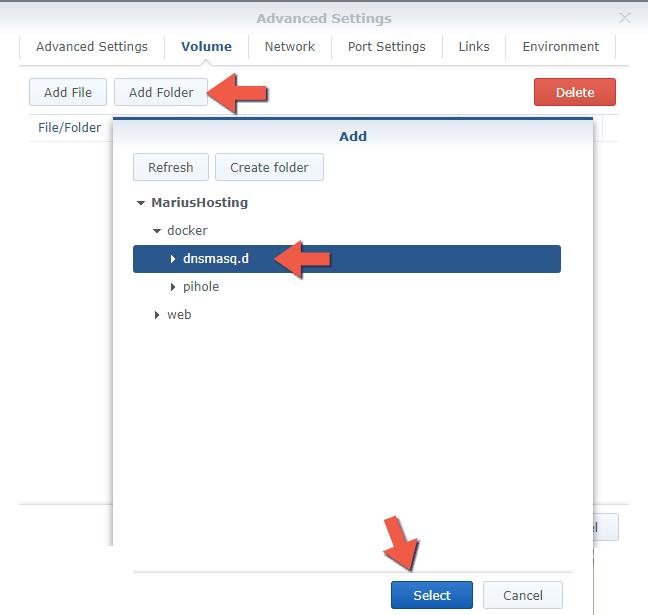 4 Synology NAS Docker pihole advanced settings setup configuration