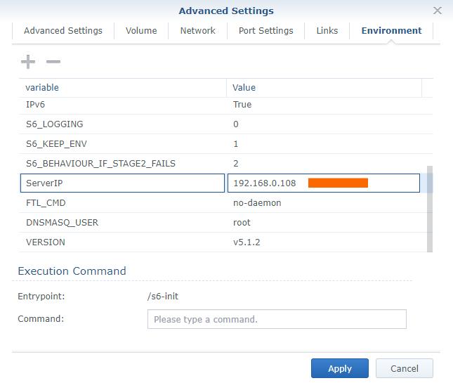 8 Synology NAS Docker pihole advanced settings setup configuration