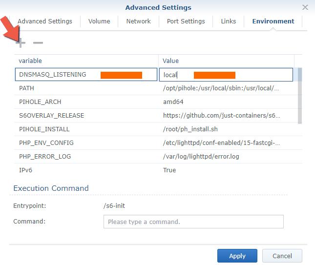 9 Synology NAS Docker pihole advanced settings setup configuration