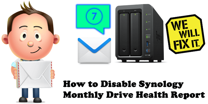 How to Disable Synology Monthly Drive Health Report