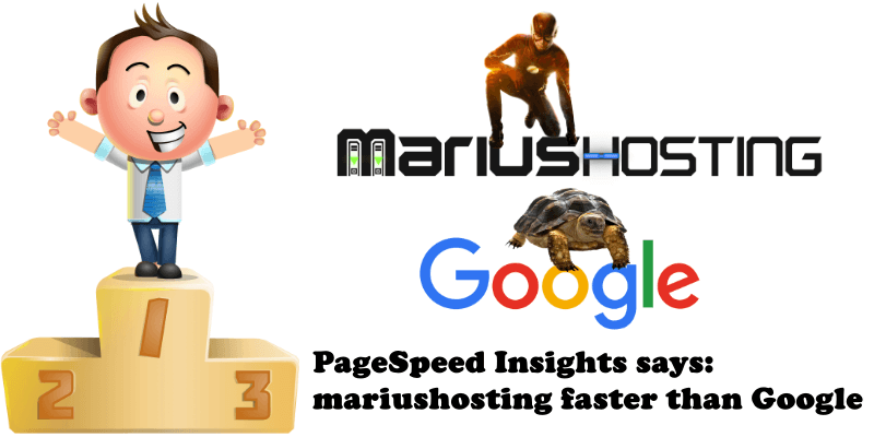 PageSpeed Insights Says Mariushosting Faster than Google