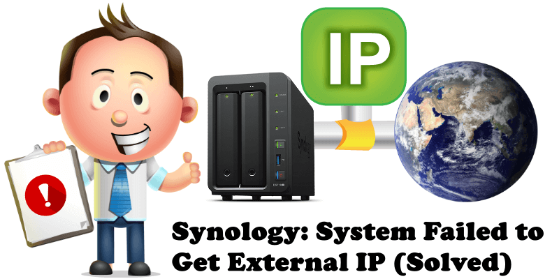 Synology System Failed to Get External IP (Solved)
