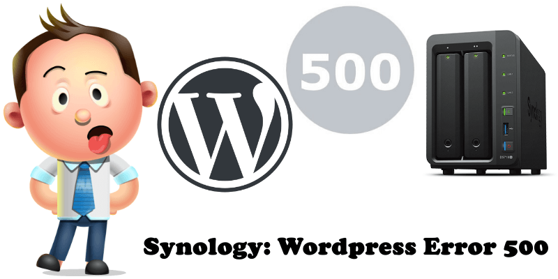 Synology WordPress Error 500