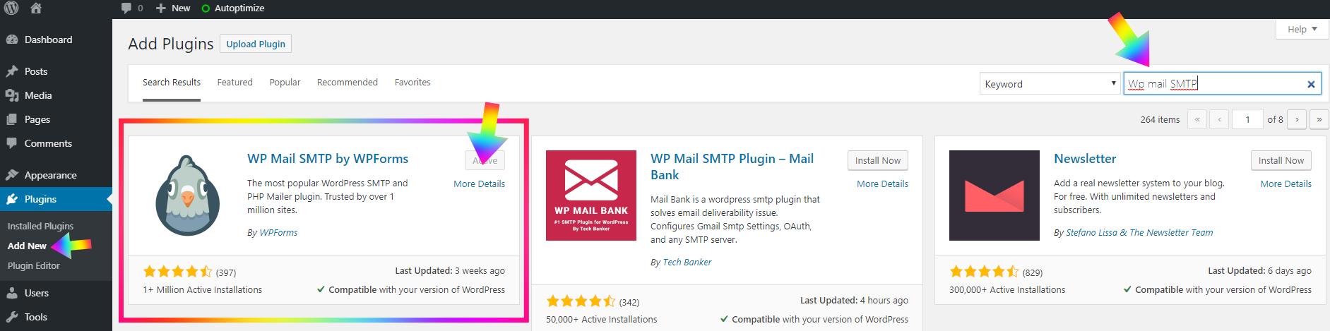 download wp plugin mail smtp