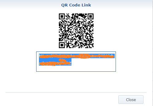 4 Synology QR code shared link