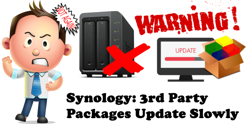 Synology 3rd Party Packages Update Slowly