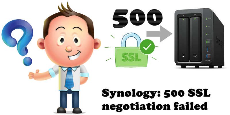 Synology 500 SSL negotiation failed