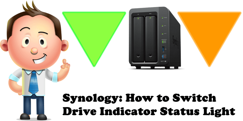 Synology How to Switch Drive Indicator Status Light