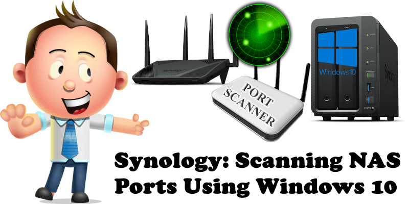 Synology Scanning NAS Ports Using Windows 10