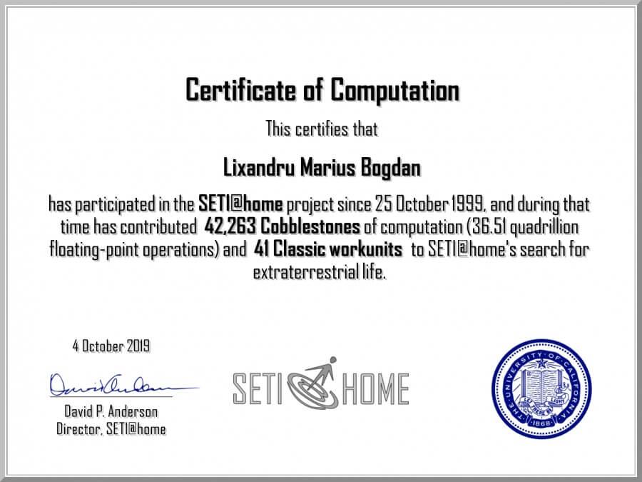 seti@home certificate