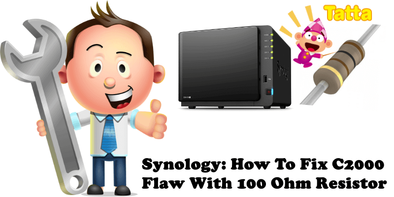 Synology How To Fix C2000 Flaw With 100 Ohm Resistor