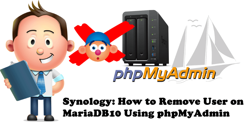 Synology How to Remove User on MariaDB 10 Using phpMyAdmin