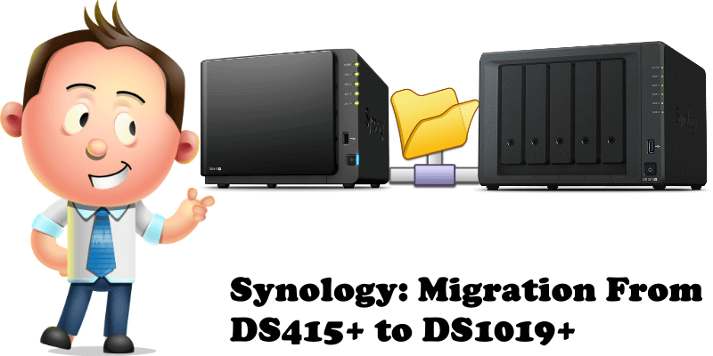 Synology Migration From DS415+ to DS1019+
