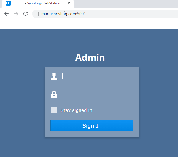 synology login page domain