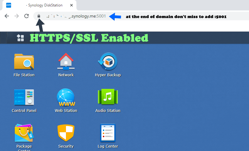 6 Synology Enable HTTPS work