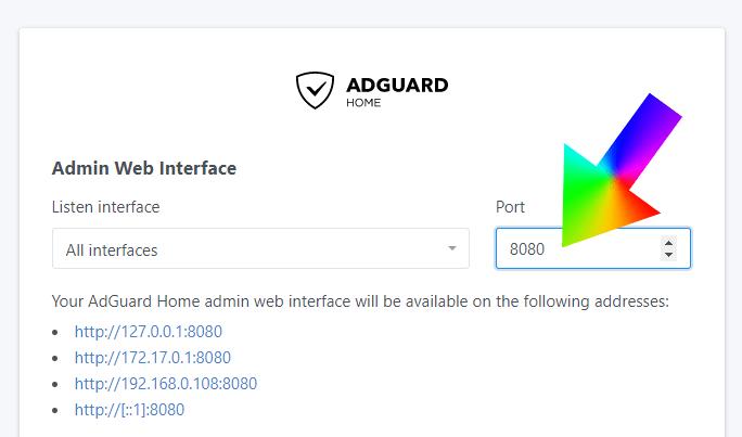AdGuard Error Docker port 80 already in use Synology