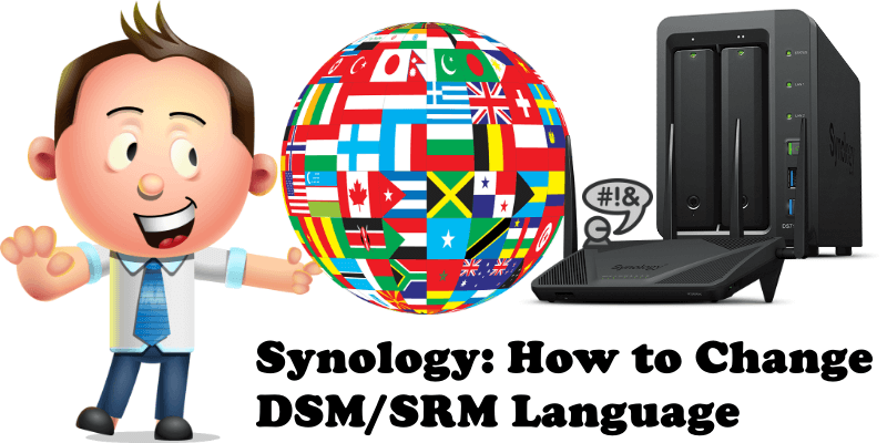 Synology How to Change DSM-SRM Language