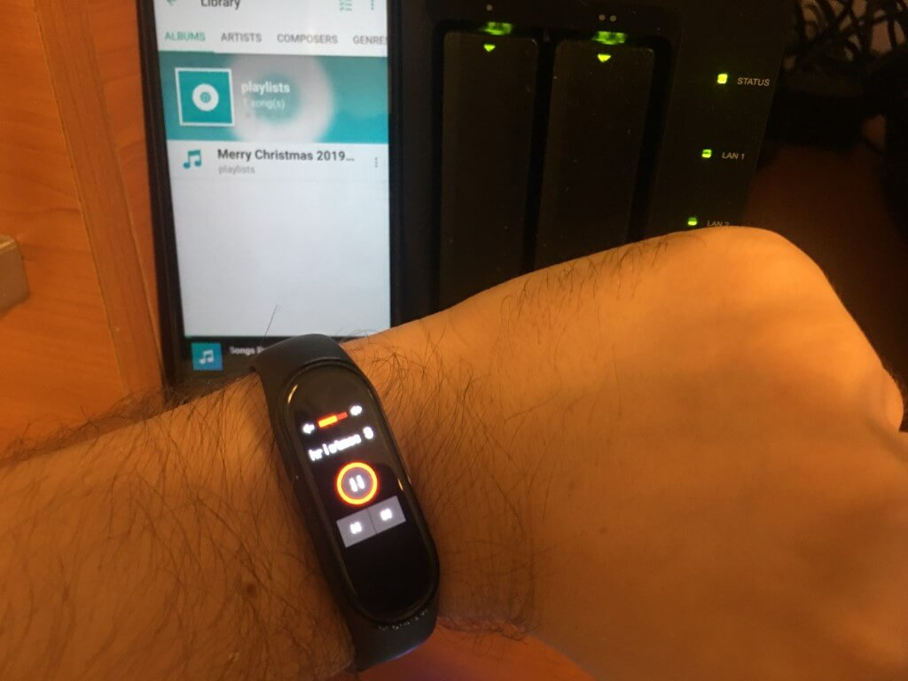 Xiaomi mi band 4 and Synology NAS