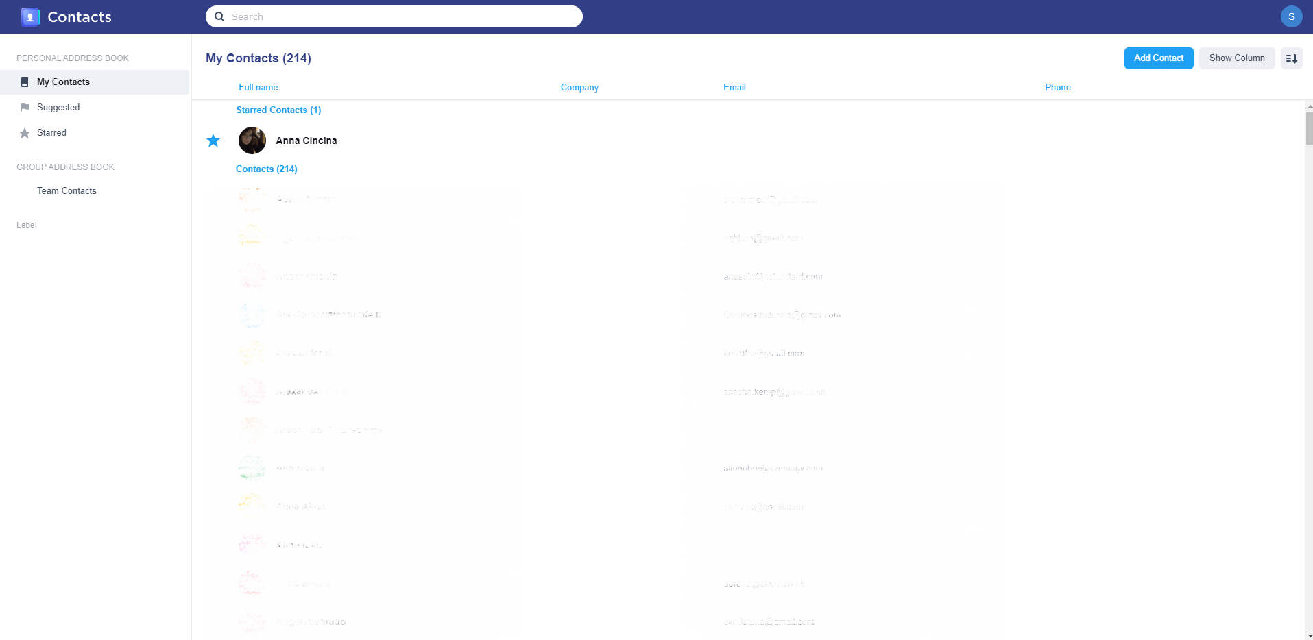 12 Synology Contacts
