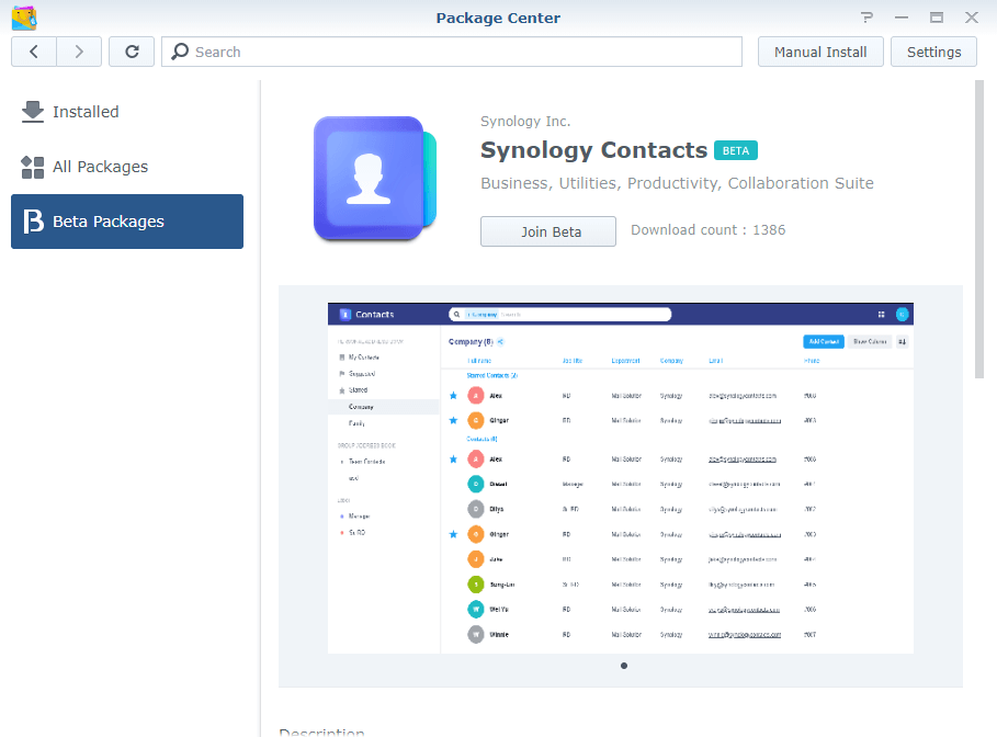 2 Synology Contacts