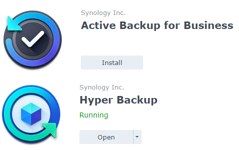 Active Backup for Business and Hyper Backup Synology NAS